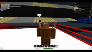 Lets Play Roblox:The Wrestling Gig! Match No.1