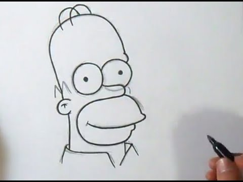 Comment dessiner homer simpson youtube - Dessin d homer simpson ...