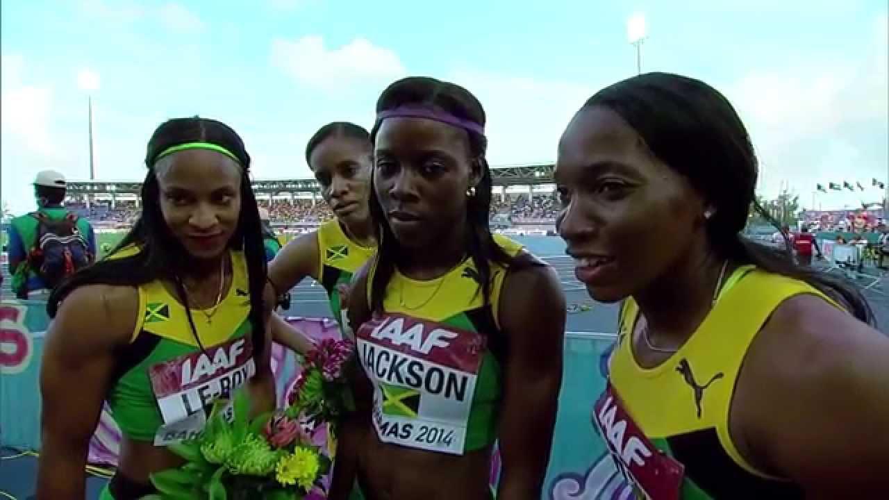 IAAF World Relays Bahamas 2014 - Mixed Zone 4 Laps Race ...