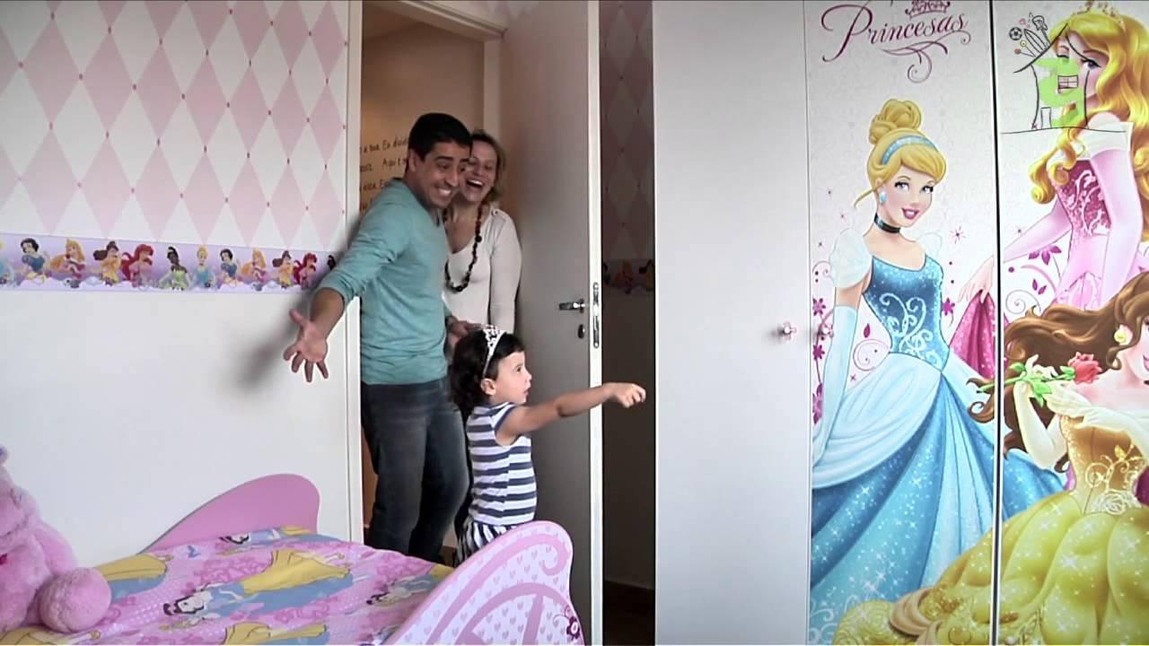 Móveis infantis  O sonho de um quarto de princesa Casa Tema  YouTube