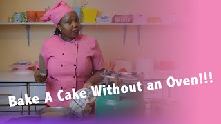 Baking a cake without an Oven!!! (Using a Jiko or gas cooker)