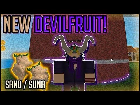 SAND DEVIL FRUIT  STEVE'S ONE PIECE   Roblox   Devil Fruit Showcase