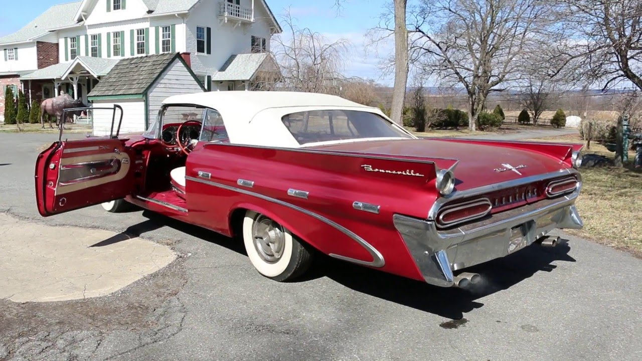 1959 pontiac bonneville convertible for sale~fantastic! youtube1959 Pontiac Catalina Tripower Convertible #21
