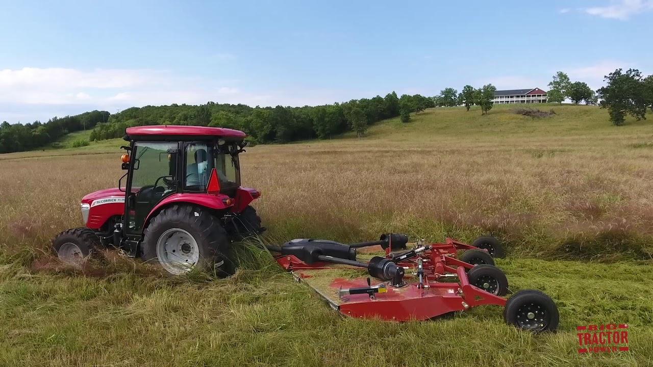 Big 10 ft Rhino TS10 Flex-Wing Mower for Utility Tractors