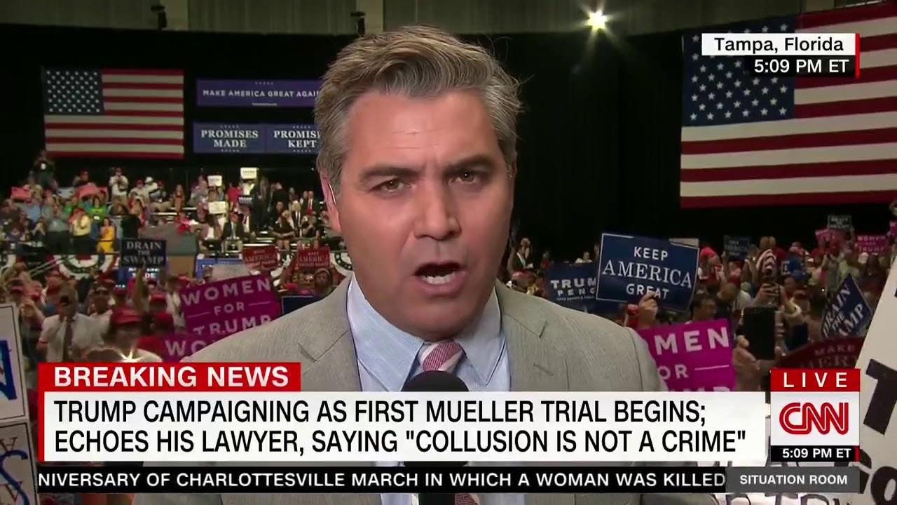 CNN's Acosta on Trump Supporters Chanting 'CNN Sucks,' 'Fake News': 'A