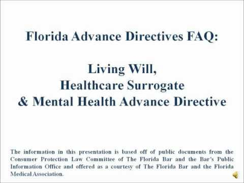Florida Advance Directives Video