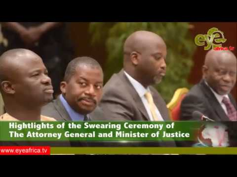 Hightlights of the Swearing Ceremony of The Attorney General and Minister of Justice