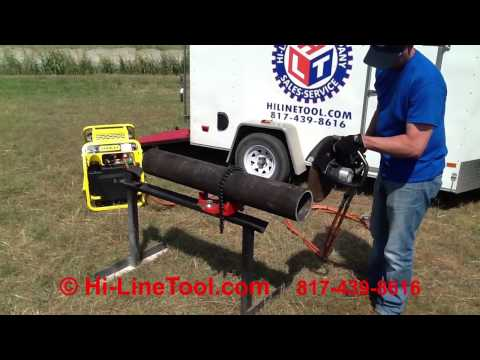 Hi-Line Tool Demo of Stanley Hydraulic CO25 Cutoff Saw