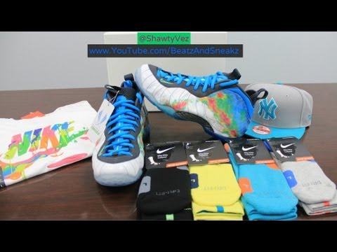 813fe17d89d10 ... clearance foamposite weatherman on feet nike foamposite one fake vs.  real comparison how to make