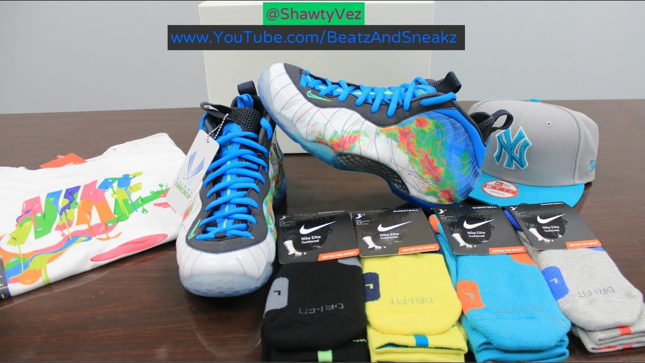 053b501dfd5 Nike Foamposite One PRM Weatherman Review - YouTube