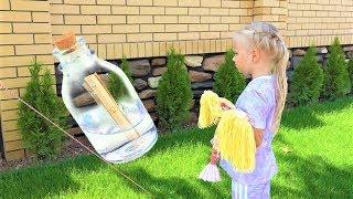 Алиса НАШЛА бутылку с ЗАПИСКОЙ во дворе своего дома / Мими Лисса