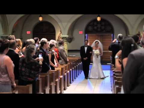 Amazing wedding processional with Donald K. Ross Bagpiping