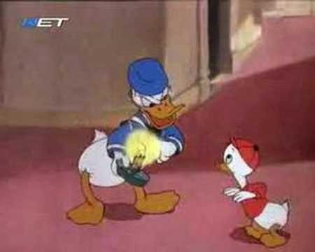 Donald Duck and the Gorilla(Greek Language)