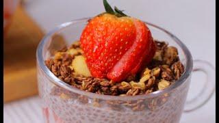 Resep Strawberry Chia Pudding