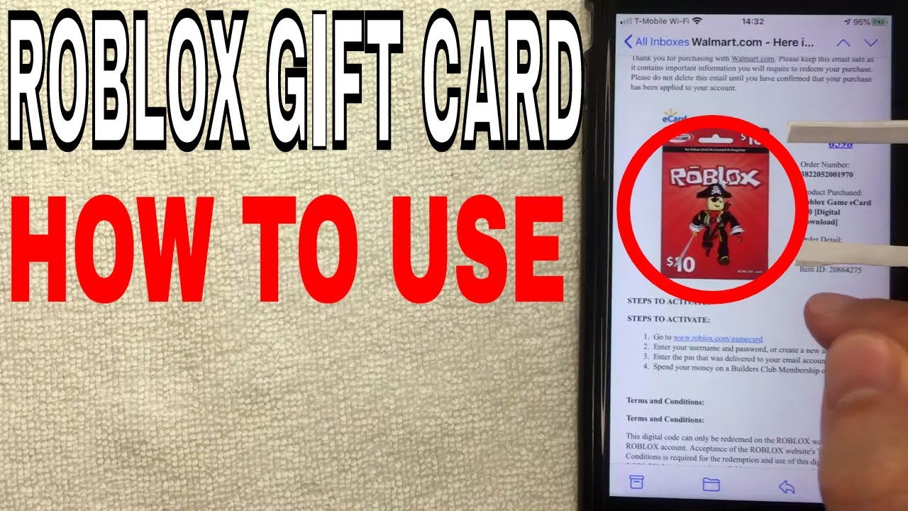 How To Use Redeem Roblox Robux Gift Card Online Youtube