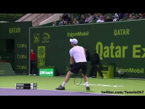 Andy Murray vs Gerald Melzer Highlights DOHA 2017