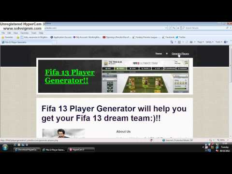 Fifa 13 player generator