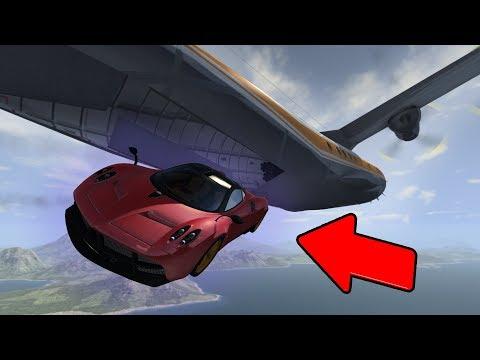 МАШИНЫ ДЕСАНТНИКИ! ДОСТАВКА БУДУЩЕГО!😀 Аварии машин и самолета в игре Beamng drive.