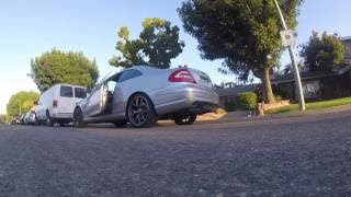 2004 Mercedes CLK500 V8 Straight Pipe LOUD