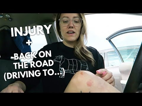 LIVING IN MY CAR: INJURY + BACK ON THE ROAD | Katie Carney