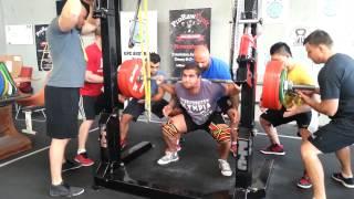 Albert Ozdil squats 300kg PTC