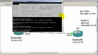 RouterGods - Configuring OSPF default information originate