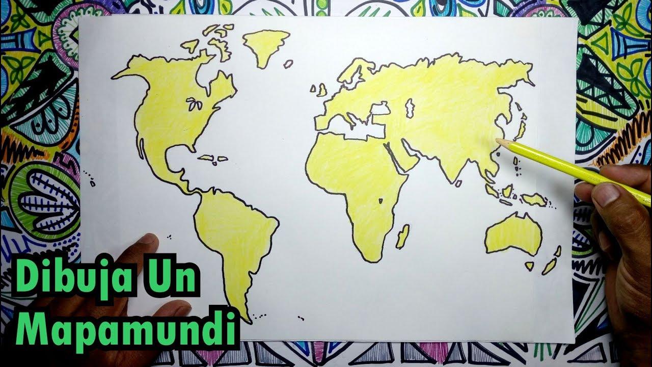 Mapa Del Mundo Para Dibujar: Aprende A Dibujar Un Mapamundi, Globo Terráqueo Y Sus