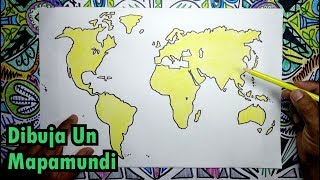 Aprende a dibujar un mapamundi, globo terráqueo y sus continentes