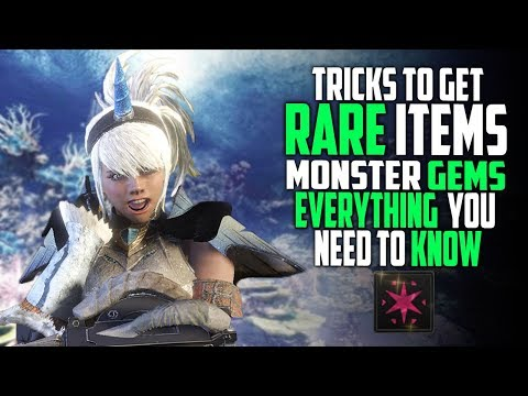 How To Get Gems And Rare Items Easy! Monster Hunter World Gameplay Guide