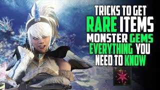 how to get rare items monster hunter world