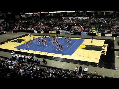2012 WIAA State Cheerleading Championships - Bellevue High School Wolverines