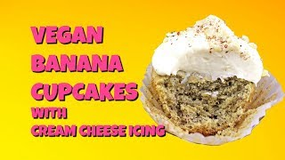 Vegan Banana Cupcakes with Cream Cheese Icing || Gretchen's Vegan Bakery