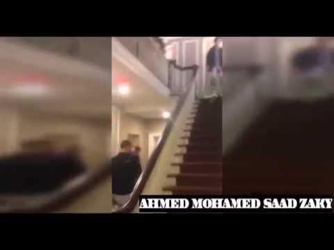 ولد يتزحلق على السلم - فيديو مضحك