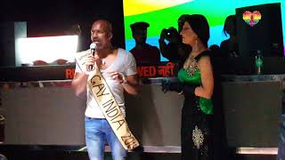 Mr. Gay India 2019 addresses the crowd