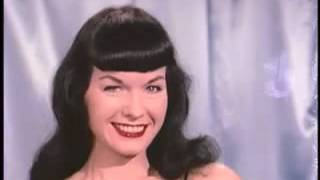 "Bettie ""Betty"" Page 1955 in Color with the Authentic Music"