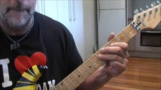 How to play Van Halen Take Your Whiskey Home electric guitar part