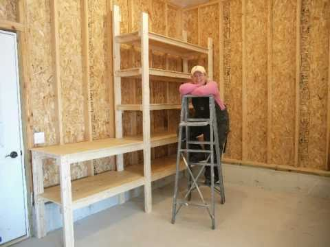 Shelves for Mick & Tom's Garage - YouTube