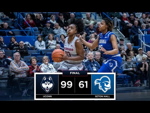 UConn Women's Basketball Highlights v. Seton Hall 12/08/2018