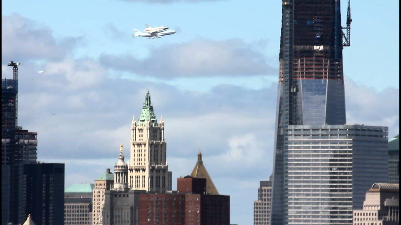 Space Shuttle Enterprise New York City flyover - YouTube |Space Shuttle Flyover