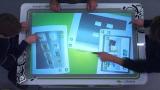 MultiTouch Software on MultiTouch Table AEON