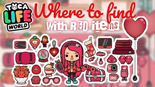 RED THINGS COLLECTION in Toca Life World NecoLawPie Color Collection #5