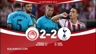Olympiakos vs Tottenham 2 2 All Goals  Highlights Uefa Champions League 2019