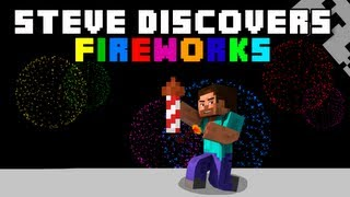 Minecraft: Steve Discovers Fireworks