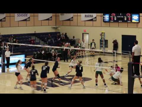 Cal State Monterey Bay Volleyball Highlights vs. Cal Poly Pomona
