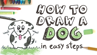 Educational Activity: How To Draw a Dog in Easy Steps for Kids (Fine motor skills)