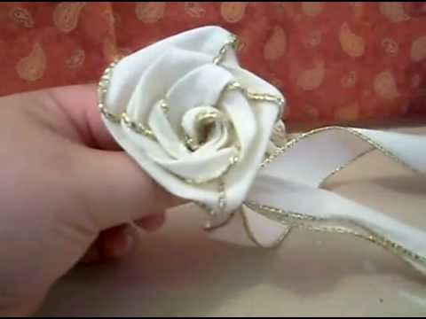 Diy rosa armada hecha de list n tutorial youtube - Como secar una rosa ...