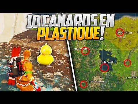 TROUVER 10 CANARDS EN PLASTIQUE SUR FORTNITE BATTLE ROYALE !