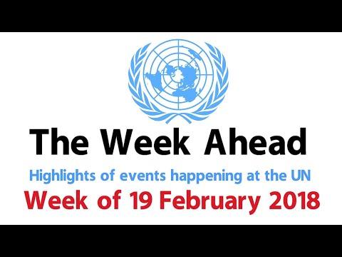 The Week Ahead - starting 19 February 2018