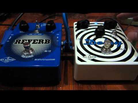Biyang AD-12 Analog Delay / Biyang RV-12 Stereo Reverb (Classic Series) demo.