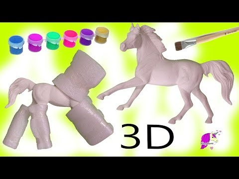 DIY 3D Paint by Number Breyer Resin Horse Do It Yourself Painting Kit Video thumbnail